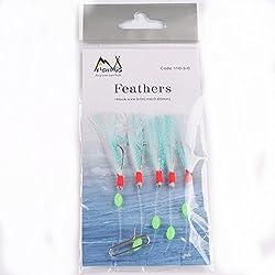 New 10Packs Sabiki Rigs Bait lures Sea Fishing Sabiki Shrimp bait rigs baits fishing Hooks Size1/0 2/0 3/0 Green