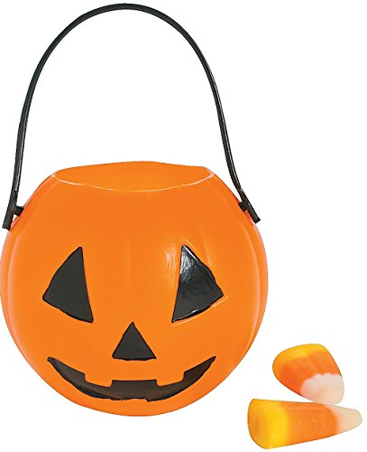 "Mini Pumpkin Buckets (12 Pack) 2"" Diam. With a 1 1/2"" Handle. Plastic"