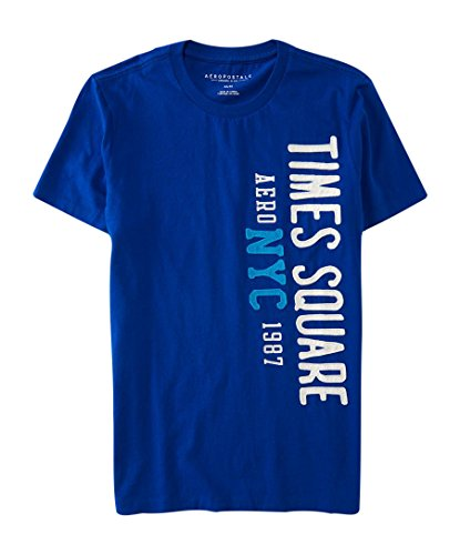 aeropostale-mens-nyc-1987-times-square-logo-graphic-t-shirt-m-spirit-blue