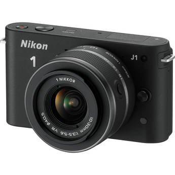 Nikon 1 J1 - 27526 - 10.1 MP HD Digital Camera System with 10-30mm VR 1 NIKKOR Lenses (Black)