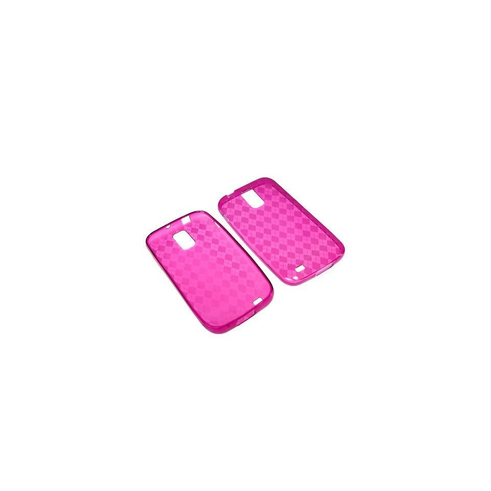 BC TPU Sleeve Gel Cover Skin Case for T Mobile Samsung Galaxy S II T989  Pink Checker