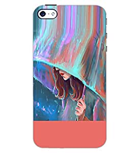PrintDhaba CUTE GIRL D-6287 Back Case Cover for APPLE IPHONE 5 (Multi-Coloured)