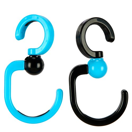 Babies R Us Stroller Hooks - Aqua and Black - 1