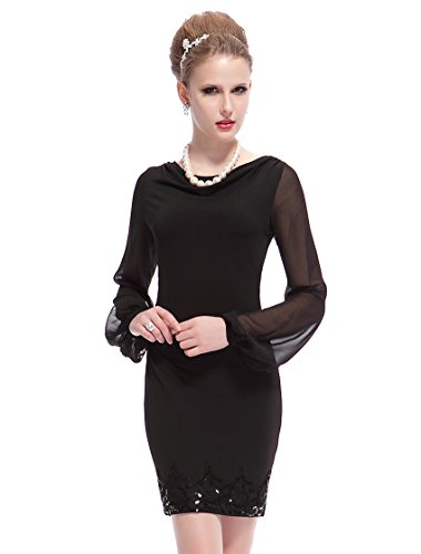He03929Bk10, Black, 8Us, Ever Pretty Short Party Dresses For Juniors 03929