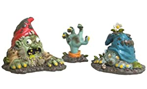 Zombie Gnome Bits Scary Halloween Party Garden Decor from OTC