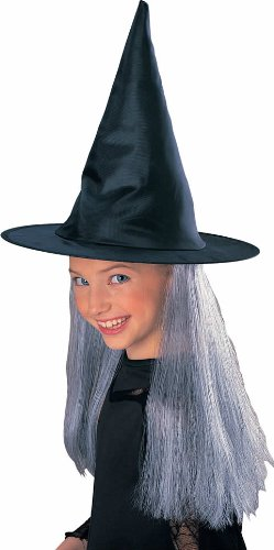 Rubies Child's Witch Hat with Grey Hair - 1