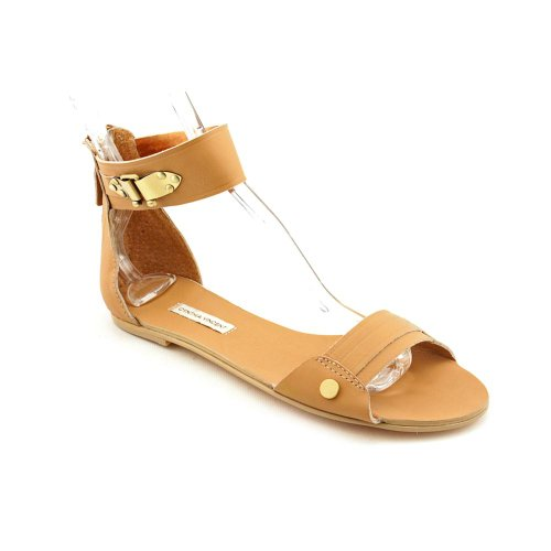 Cynthia Vincent Barret Womens Size 8 Nude Open Toe Leather Dress Sandals Shoes