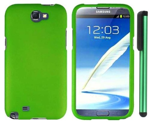$$  Grass Green Design Protector Hard Cover Case for Samsung Galaxy Note II N7100 (AT&T, Verizon, T-Mobile, Sprint, U.S. Cellular) Android Smart Phone + Combination 1 of New Metal Stylus Touch Screen Pen (4