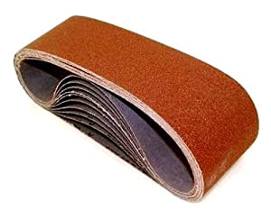 SAIT 60888 Closed Coat Aluminum Oxide 4-Inch x 54-Inch 1-AX 80 Grit Sanding Belt, 10-Pack