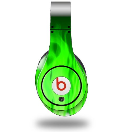 Fire Green Decal Style Skin (Fits Original Beats Studio Headphones - Headphones Not Included)