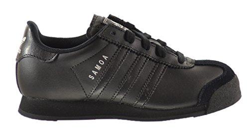 Adidas Samoa C Little Kids Shoes Black/Black/Metallic Silver
