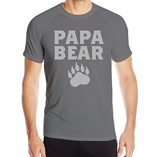 Papa Bear Cute Fathers Day Gift Men Athletic Active Dri-Fit Tee Shirt