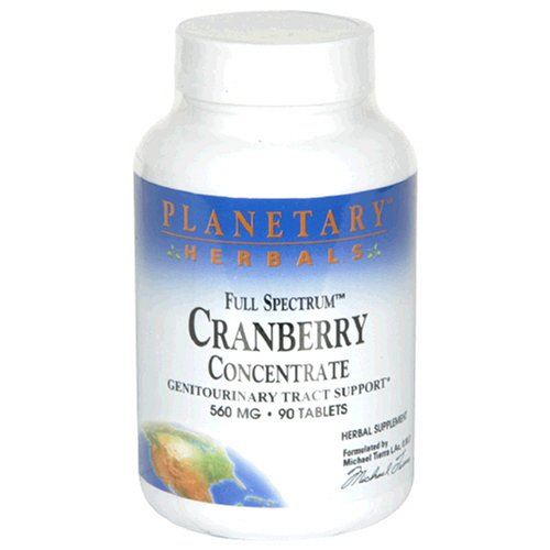 Planetary Herbals Full Spectrum Cranberry Concentrate, 560 Mg, Tablets , 90 Tablets (Pack Of 2)
