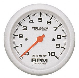 """Auto Meter Tachometer Gauge 4497; Ultra-Lite 0 to 10000 RPM 3-3//8/"""" Electrical"""