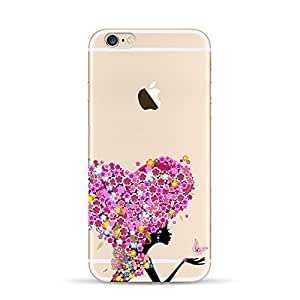 iPhone 6S Plus case, Dawanza, Flower Fairy Pattern Flexible TPU Slim Crystal Case for iPhone 6S Plus/6 Plus