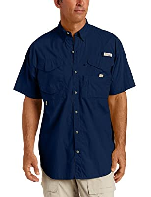 Columbia Mens Bonehead Short Sleeve Fishing Shirt