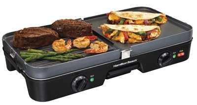 Hamilton Beach Brands 38546 Dual Zone Griddle/Grill from Hamilton Beach Brands