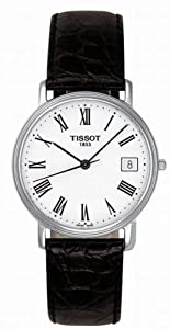 Tissot Men's T52.1.421.13 Black Leather Swiss Quartz Watch with White Dial
