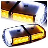 Tocas® High Wattage LED Magnetic Rooftop Emergency Hazard Warning Strobe Lights Amber,White,Amber/White,Red,Blue,Red/Blue,Red/White (White/Amber)