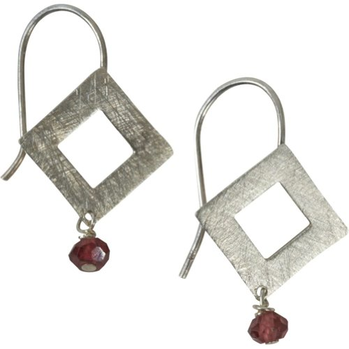 Zina Kao Exclusives Brushed Open Diamond Earring (Sterling Silver)