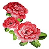 GGSELL Extra Large Size A4 Size 8.3 X 11.7 Inches Waterproof Peony Temporary Tattoos
