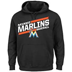 MLB Mens Back the Field Fleece Hooded Sweater, Team Color by Majestic
