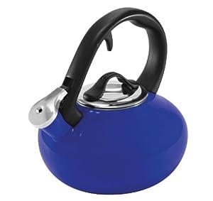Chantal Tea Kettle Enamel on Steel Loop Teakettle - Blue Indigo 1.8qt. by Chantal Classic Loop