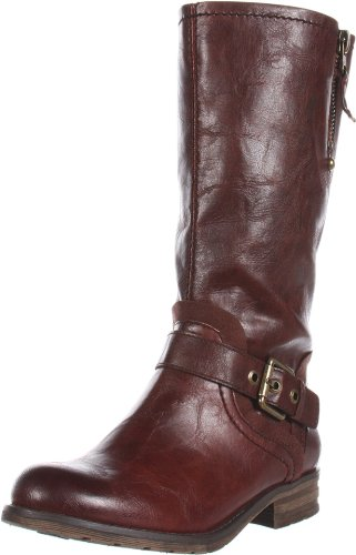 Naturalizer Women's Balada Motorcycle Boot,Rust,9.5