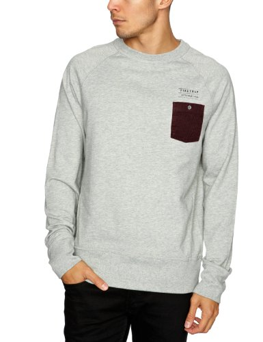 Firetrap Drumfire Men's Sweatshirt Grey Marl Medium