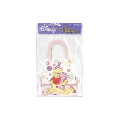 Pooh's 1st Birthday Girl Treat Boxes 4 Count by Disney - 1