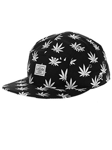 CAYLER AND SONS BUDZ N STRIPES 5 PANEL CAP BLACK WHITE Unica