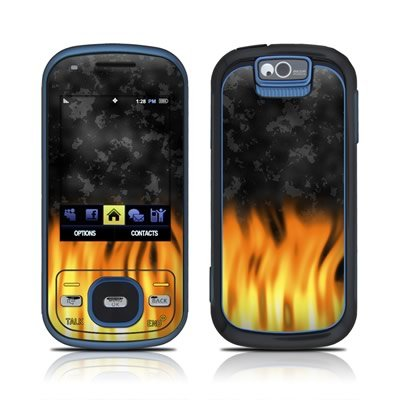 BBQ Flame Design Skin Decal Sticker for the Samsung Exclaim SPH M550 Cell Phone