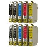 10 XXL Cartucce compatibili con Epson T1291 ,T1292, T1293, T1294