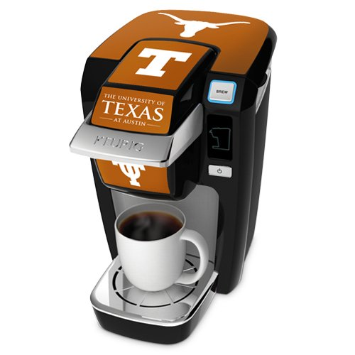 Keurig K10 Black Mini Plus Single Cup Personal Brewer With University Of Texas Decal Kit