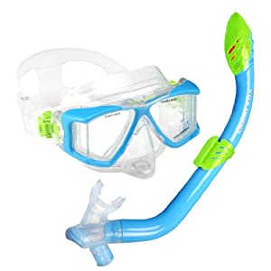 U.S. Divers Youth Viewpoint JR Laguna Snorkel LX Mask, Fun Blue