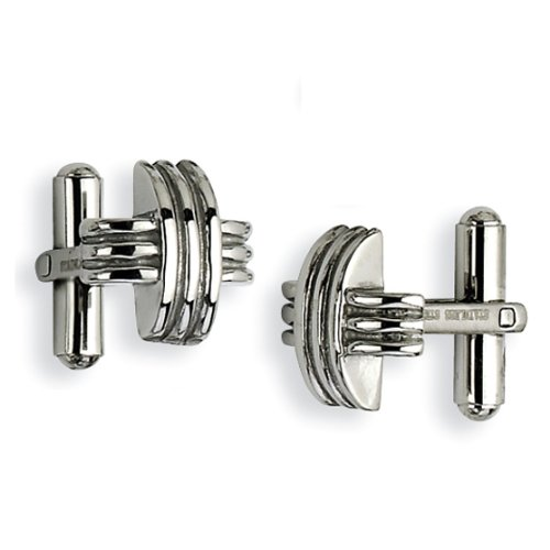 Chisel Stainless Steel Fancy X Cufflinks