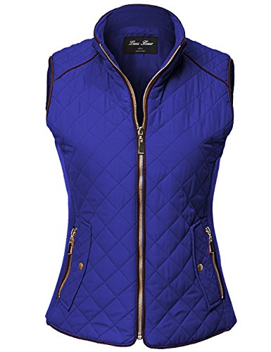 Winter Quilted Padding Vest Comfortable Warm Jackets,122-Dark Navy,Large