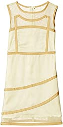 Herberto Girls' Party and Evening Dress (HRBT-DRESS-097-2_Yellow_5 - 6 years)