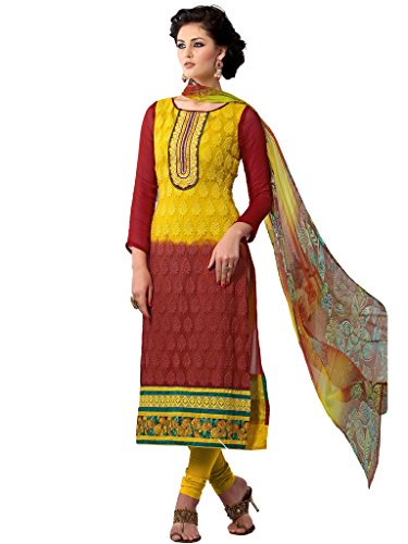 Riti Riwaz pink gerogette semi stiched pakistani suit with dupatta