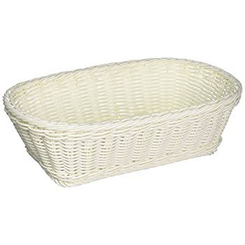 Colorbasket 31404-107 Hand Woven Waterproof Rectangular Basket, White, Set of 3