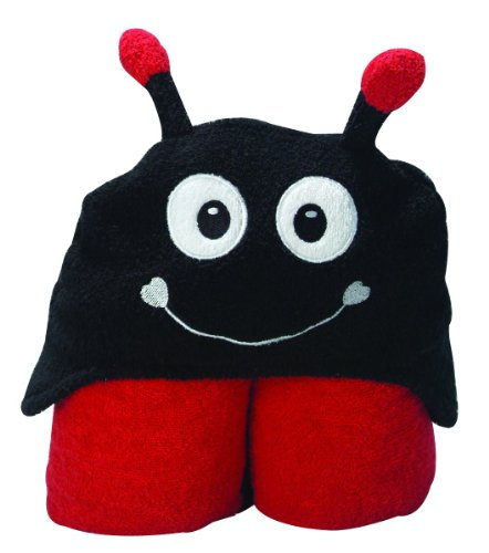 Pickles Pals Hooded Towel, Ladybug