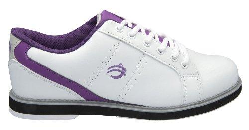 BSI Women's 460 Bowling Shoe, White/Purple