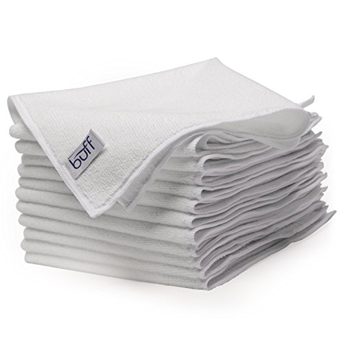 Buff Pro Multi-Surface Microfiber Towel - 12 Pack| Premium Microfiber | Dust, Scrub, Clean, Polish, Absorb | Large 16