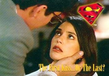The First Kiss ... Or The Last? Trading Card (Lois & Clark, Superman) 1995 Skybox #70