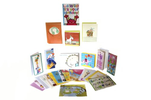 20 Birthday Cards for Kids/Teen in Gift Box (some