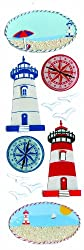 Martha Stewart Crafts Stickers, Lighthouse and Compass