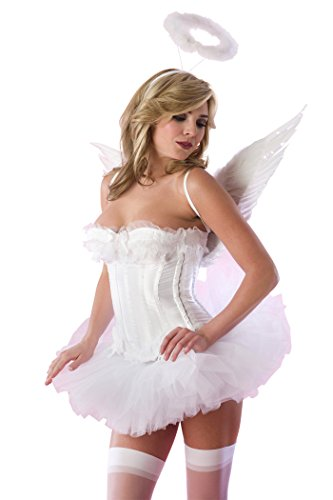 Velvet Kitten Angel Costume in White - Large (Angel Costume For Women)
