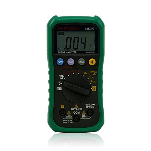 Mastech MS8239D Digital Automotive Multimeter And Engine Analyzer Dwell Angle/ Speed Test by Mastech (Dwell Appliance compare prices)