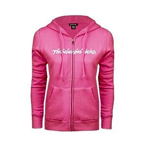 Marshall Ladies Fuschia Fleece Full Zip Hoodie