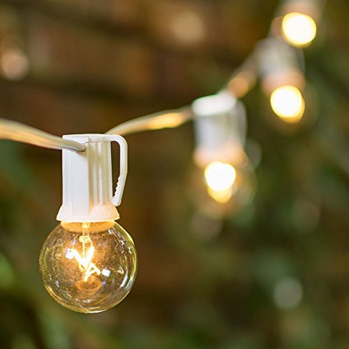 High Quality ... Clear 1.5 Inch G40 Bulbs, 50 Feet White Wire, End To End Connectable,  Wedding, Patio Bistro Strand, Incandescent, (Clear). By Lights For All  Occasions Home Design Ideas